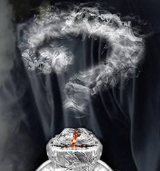 cigarette and smoke fume