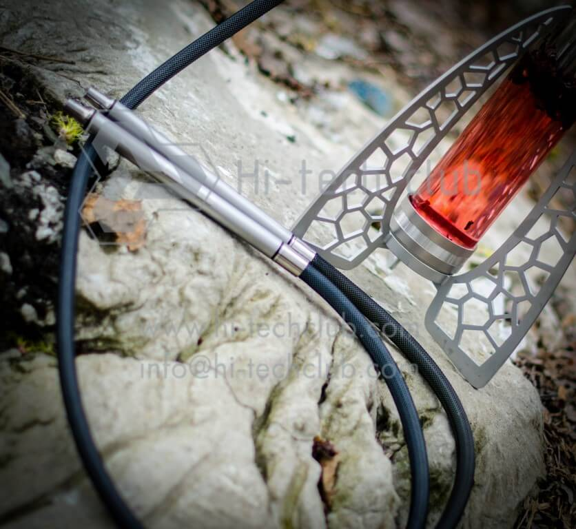 hookah two hoses Hi-tech club