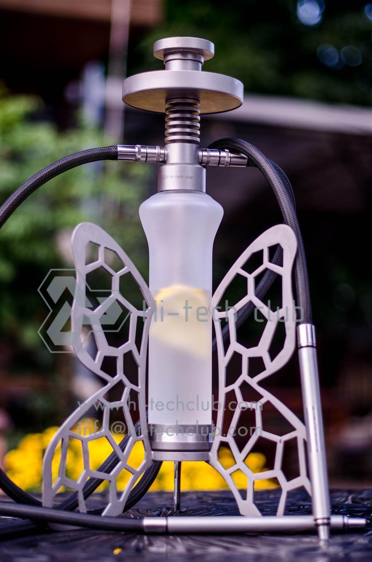 two pipes hookah accessory