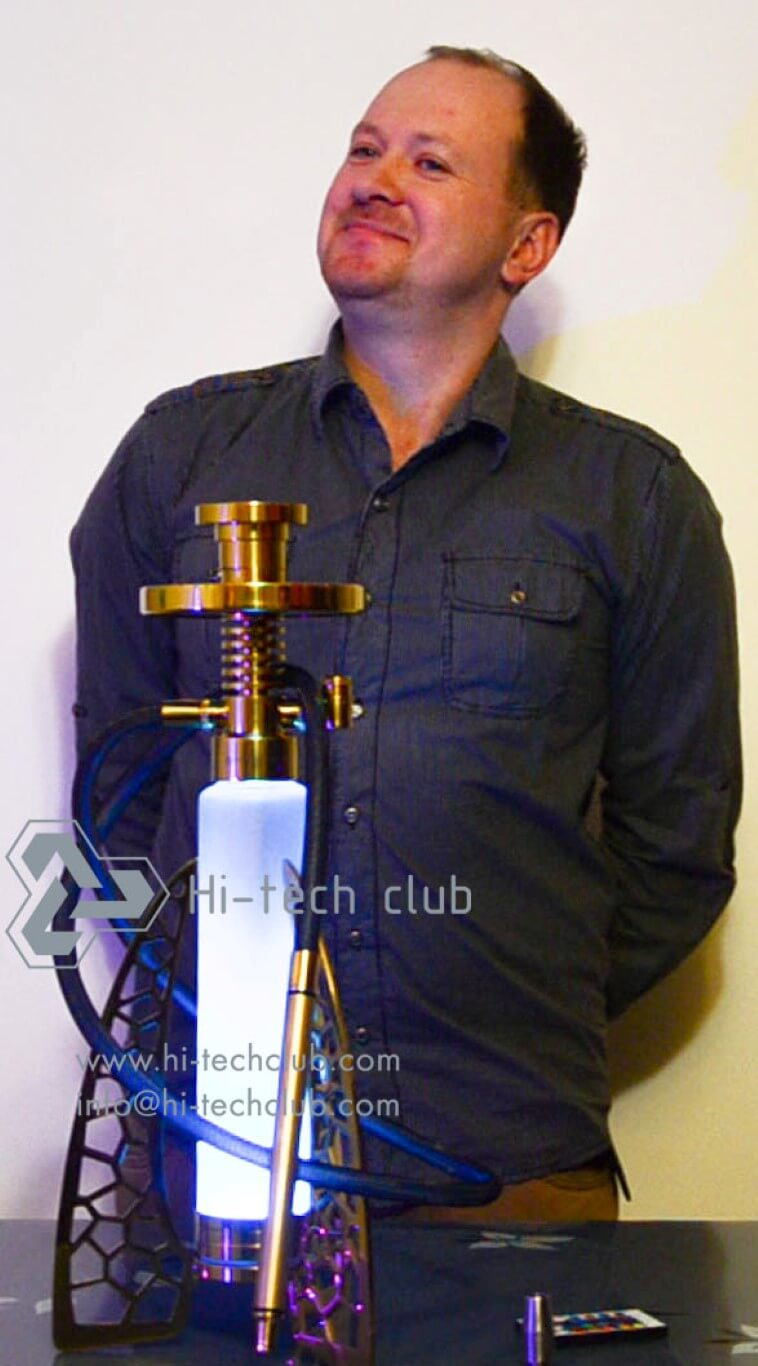 beautiful Hi-tech club hookah assembling