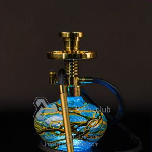 LED hookah photo glass gold