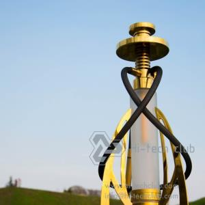 Hi-tech club classic gold for two hose hookah