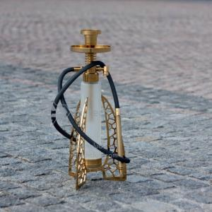 Hi-tech club classic gold glass hookah