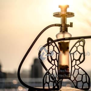hookah fume Hi-tech club butterfly gold